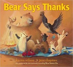Thanksgiving Activities Bear Says Thanks