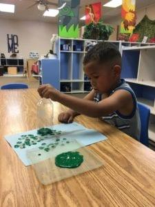 earth day art activity preschool boy